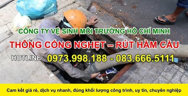 Thông cống nghẹt huyện Bình Chánh