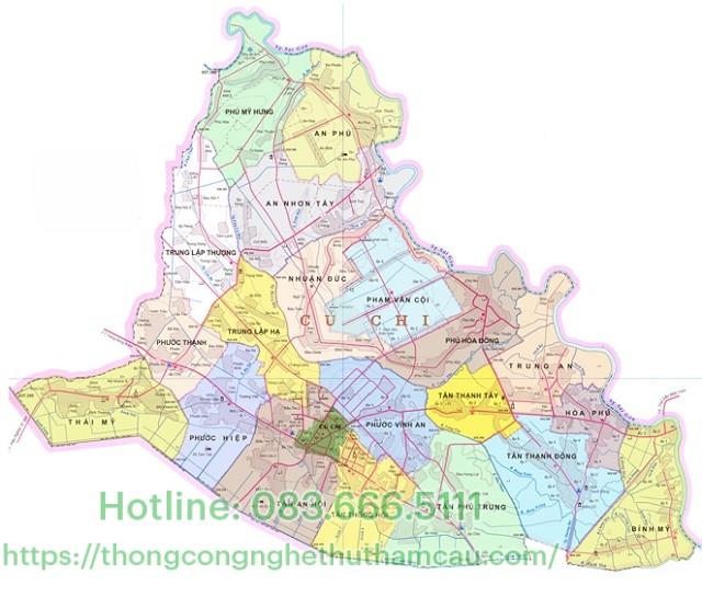 bản đồ huyện củ chi