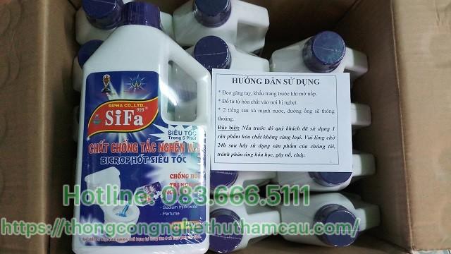 hướng dẫn sử dụng nước thông cống sifa