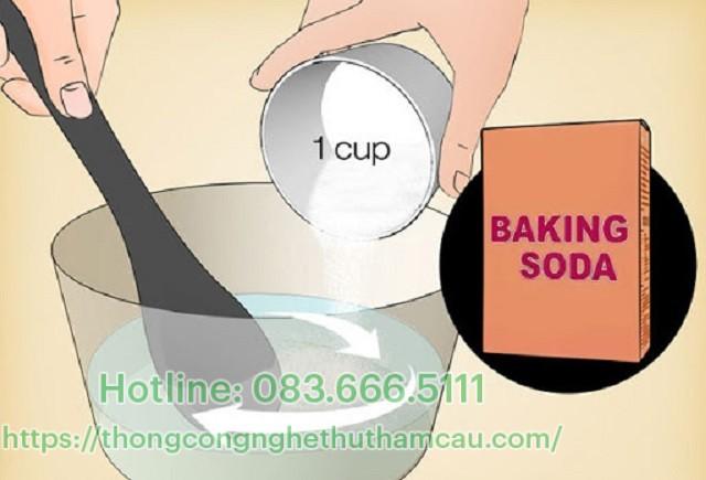 Thông tắc bằng bột baking soda
