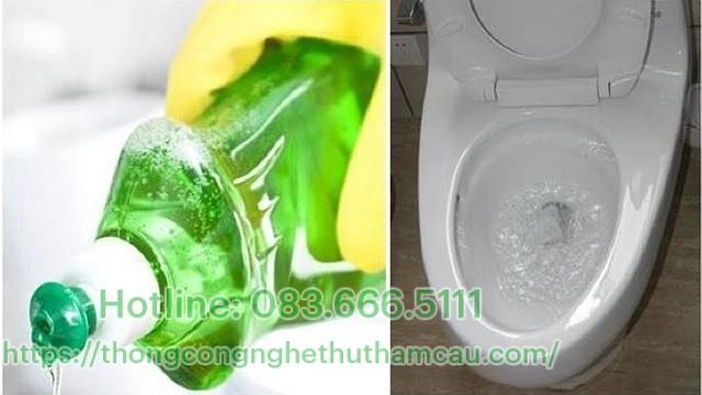 Thông tắc bằng nước rửa chén