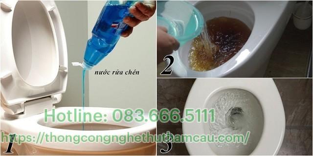 Thông tắc bằng nước xả hóa chất