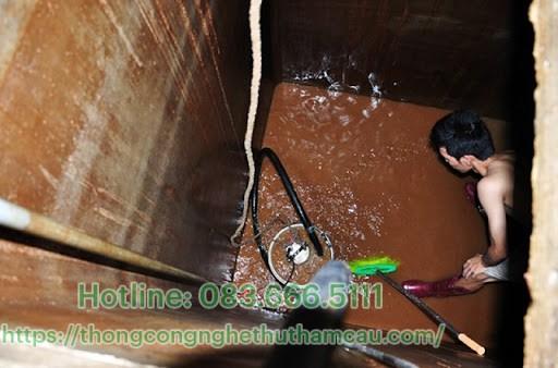 lưu ý thau rửa bể nước ngầm